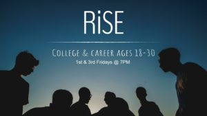 young men invite to rise youth meeting